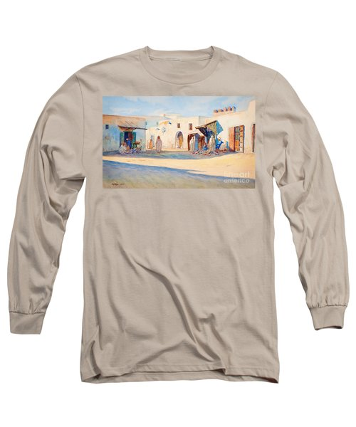 Street Scene From Tunisia. Long Sleeve T-Shirt