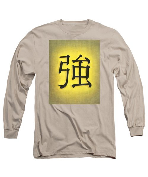 Long Sleeve T-Shirt featuring the drawing Strength by Troy Levesque
