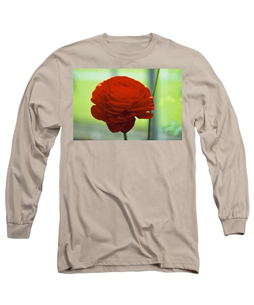 Striking Red Long Sleeve T-Shirt by Lana Enderle