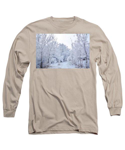 Stroll Through A Winter Wonderland Long Sleeve T-Shirt by Diane Alexander