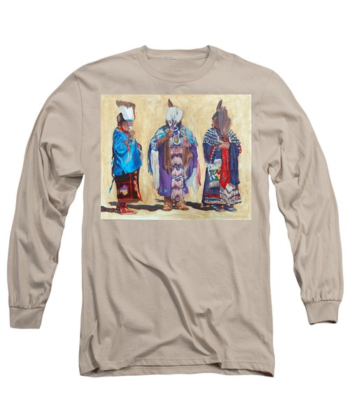 Study For The Three Sentinels Long Sleeve T-Shirt