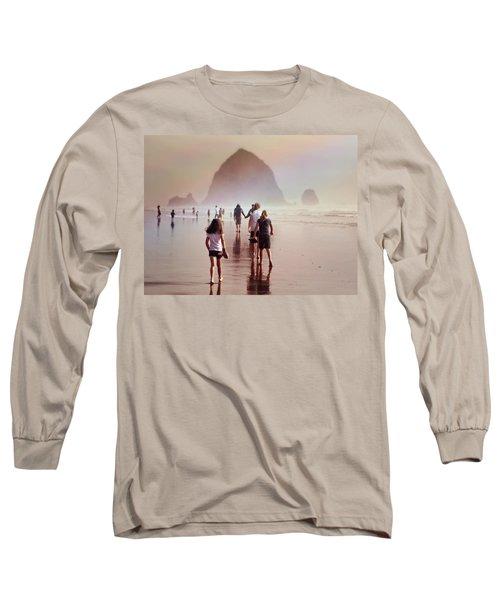 Summer At The Seashore  Long Sleeve T-Shirt by Micki Findlay