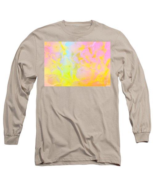 Long Sleeve T-Shirt featuring the photograph Summer Joy Abstract by Judy Palkimas