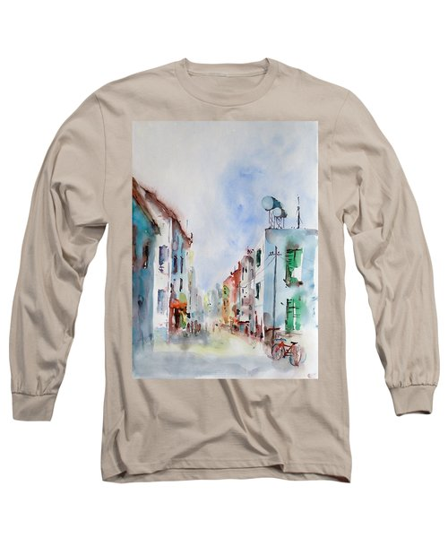 Long Sleeve T-Shirt featuring the painting Summer Morning by Faruk Koksal