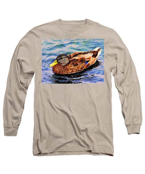 Long Sleeve T-Shirt featuring the photograph Summer Swim by Denyse Duhaime