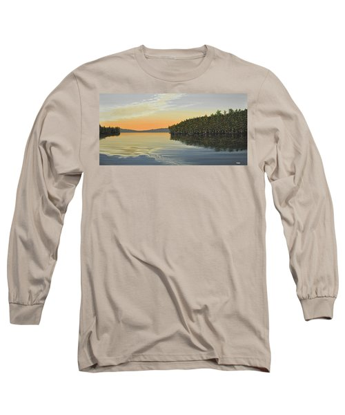 Long Sleeve T-Shirt featuring the painting Summers End by Kenneth M  Kirsch
