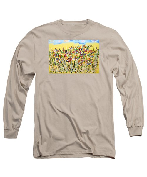 Sun-kissed Flower Garden Long Sleeve T-Shirt