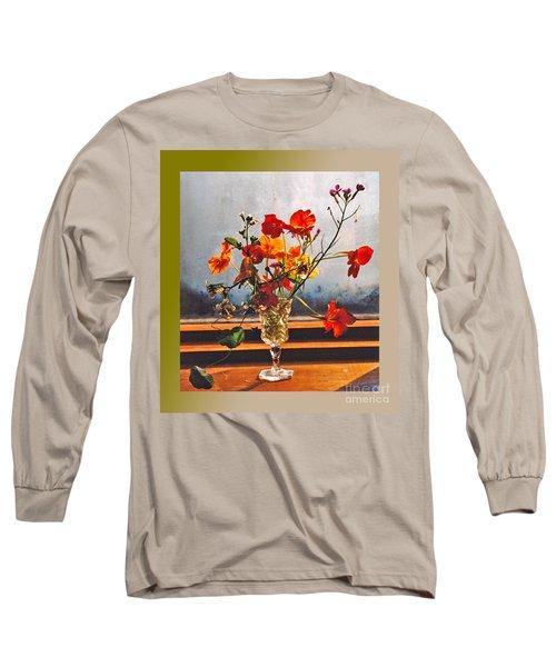 Sun Lite Nasturtium Flowers And Company Long Sleeve T-Shirt by Patricia Keller