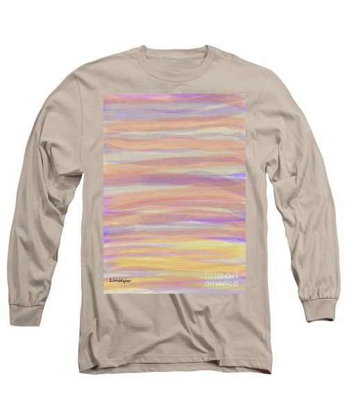 Long Sleeve T-Shirt featuring the digital art Abstract Sun Sea And Sand by Linsey Williams