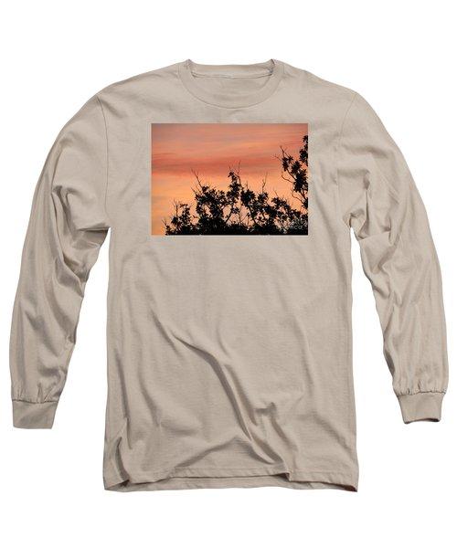 Sun Up Silhouette Long Sleeve T-Shirt by Joy Hardee