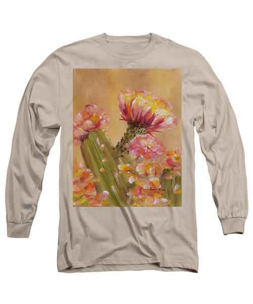 Long Sleeve T-Shirt featuring the painting Sun Worshipper by Judith Rhue