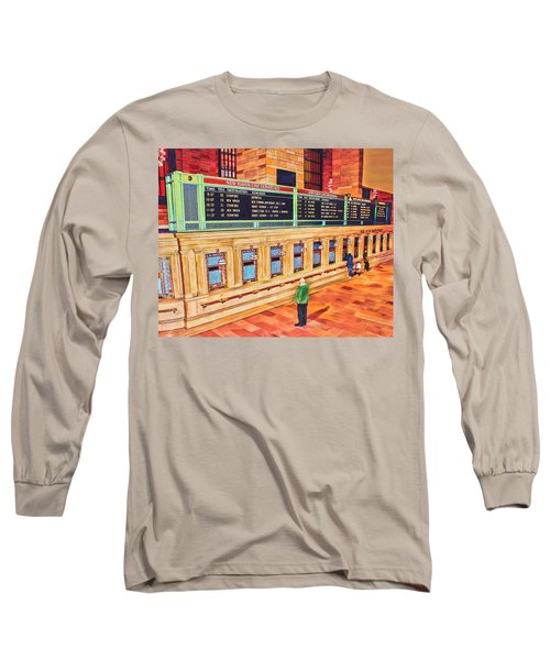 Sunday Am At Grand Central Long Sleeve T-Shirt