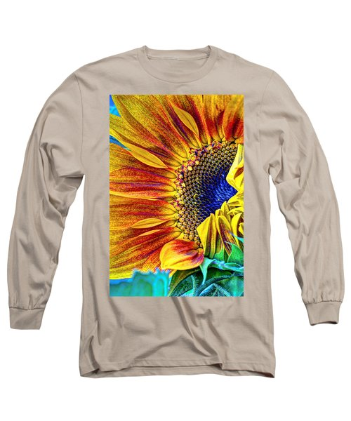 Sunflower Abstract Long Sleeve T-Shirt