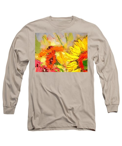 Sunflower Detail Long Sleeve T-Shirt by Ana Maria Edulescu