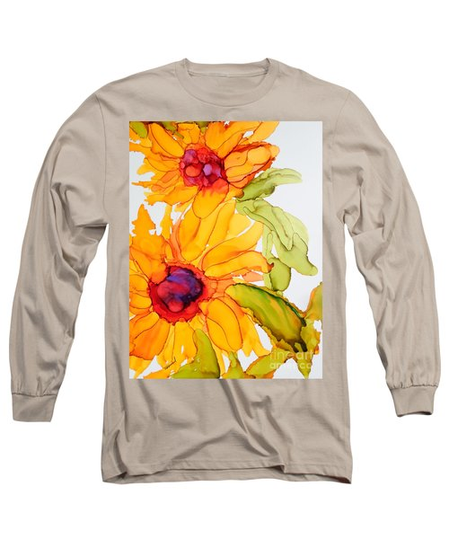 Sunflower Duo Long Sleeve T-Shirt by Vicki  Housel