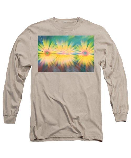 Sunflower Garden Abstract Long Sleeve T-Shirt