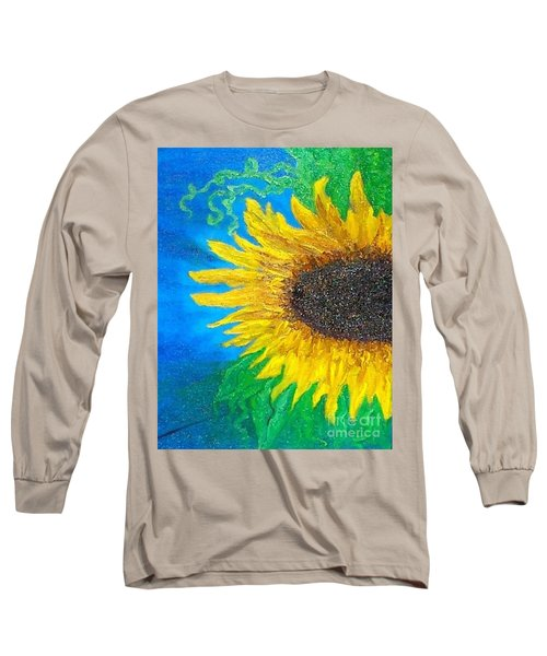 Sunflower Long Sleeve T-Shirt by Holly Martinson