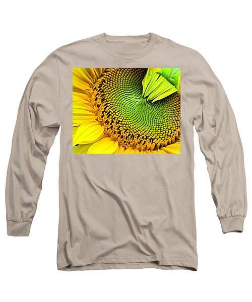 Sunflower Kaleidescope Long Sleeve T-Shirt