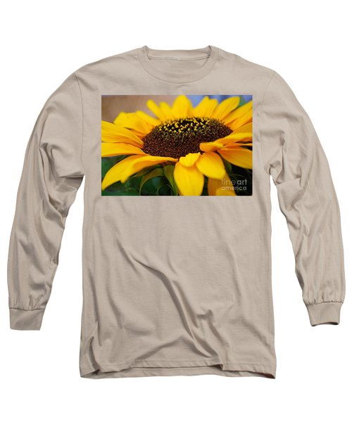 Long Sleeve T-Shirt featuring the photograph Sunflower Portrait Two by John S