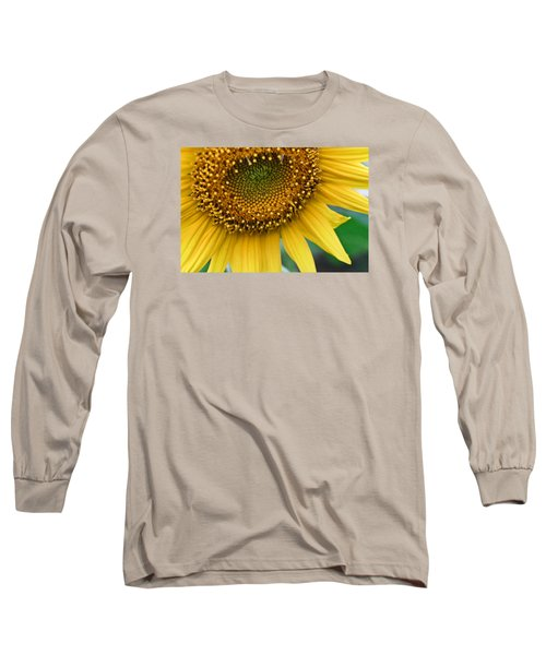 Sunflower Smiles Long Sleeve T-Shirt by Julie Andel