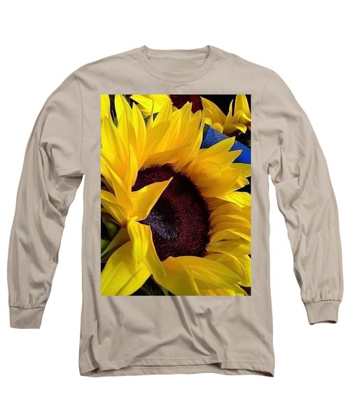 Long Sleeve T-Shirt featuring the photograph Sunflower Sunny Yellow In New Orleans Louisiana by Michael Hoard