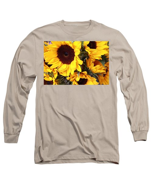 Long Sleeve T-Shirt featuring the photograph Sunflowers by Dora Sofia Caputo Photographic Art and Design