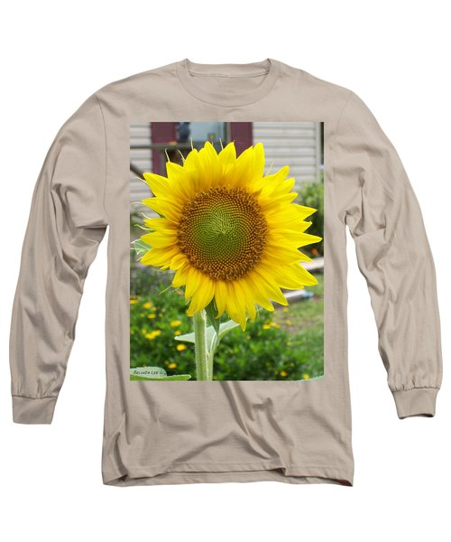 Long Sleeve T-Shirt featuring the photograph Bright Sunflower Happiness by Belinda Lee