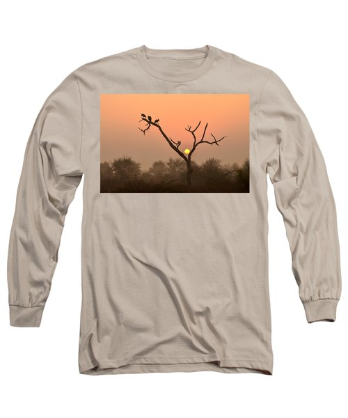 Sunrise At Bharatpur Long Sleeve T-Shirt by Fotosas Photography