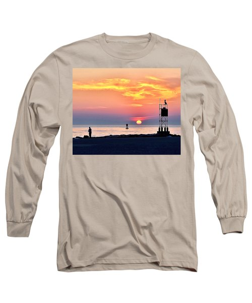 Sunrise At Indian River Inlet Long Sleeve T-Shirt
