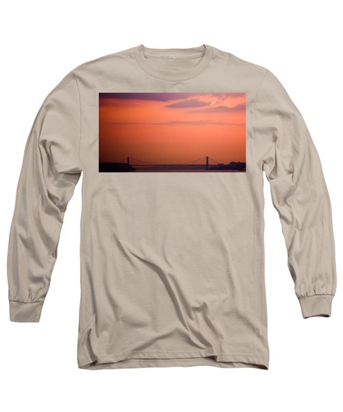 Sunrise In New York Long Sleeve T-Shirt by Sara Frank