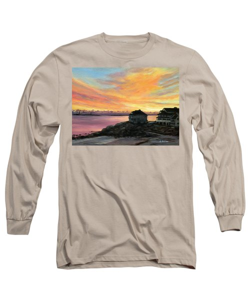 Sunrise Long Beach Rockport Ma Long Sleeve T-Shirt by Eileen Patten Oliver