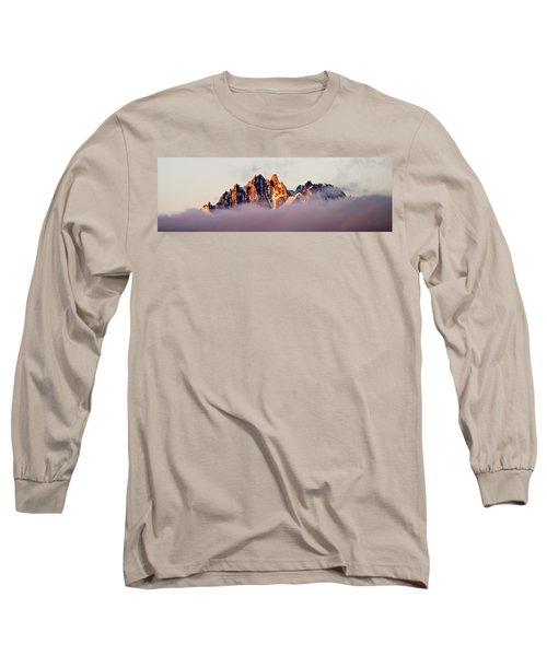 Sunrise On An Island In The Sky Long Sleeve T-Shirt