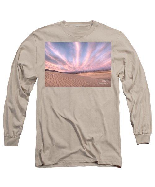Sunrise Over Sand Dunes Long Sleeve T-Shirt by Juli Scalzi