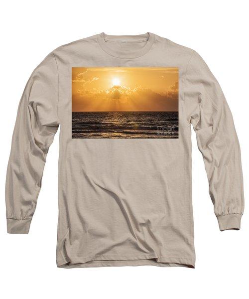 Sunrise Over The Caribbean Sea Long Sleeve T-Shirt