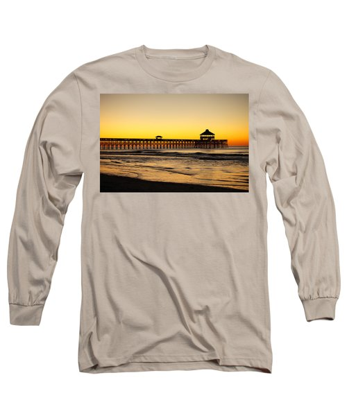 Sunrise Pier Folly Beach Sc Long Sleeve T-Shirt