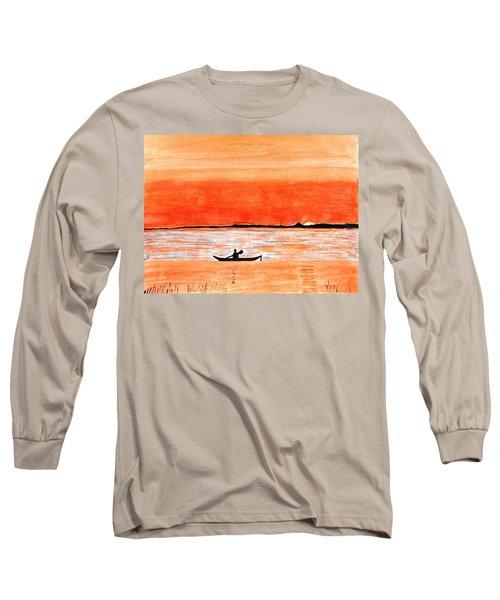 Sunrise Sail Long Sleeve T-Shirt by Sonali Gangane