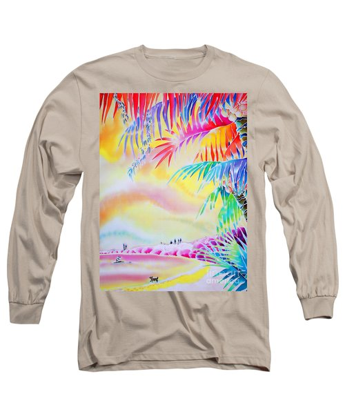 Sunset At Kuto Beach Long Sleeve T-Shirt