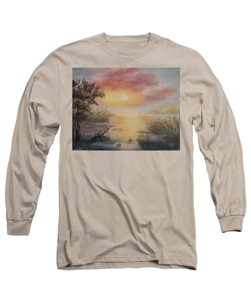 Sunset By The Lake Long Sleeve T-Shirt