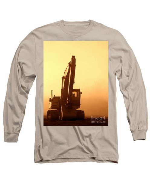 Sunset Excavator Long Sleeve T-Shirt