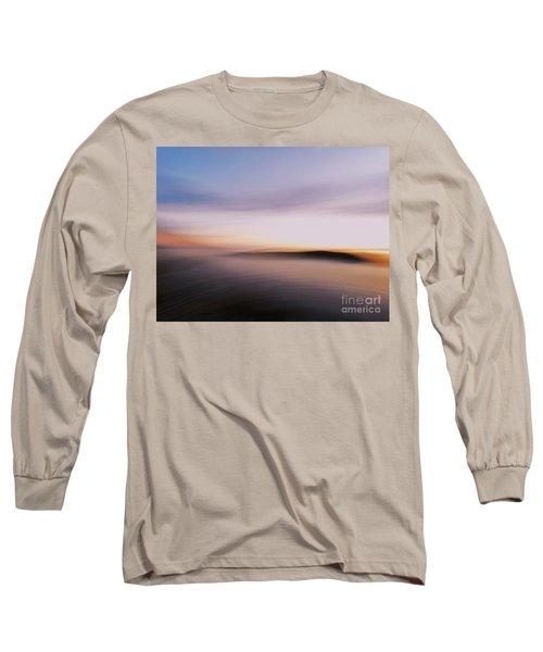 Sunset Island Dreaming Long Sleeve T-Shirt by Andy Prendy