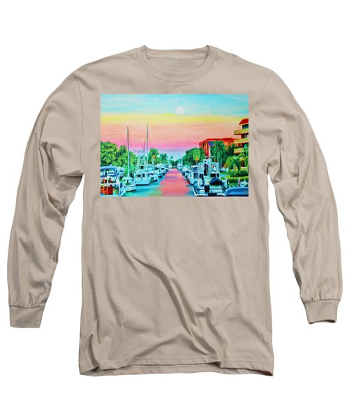 Sunset On The Canal Long Sleeve T-Shirt