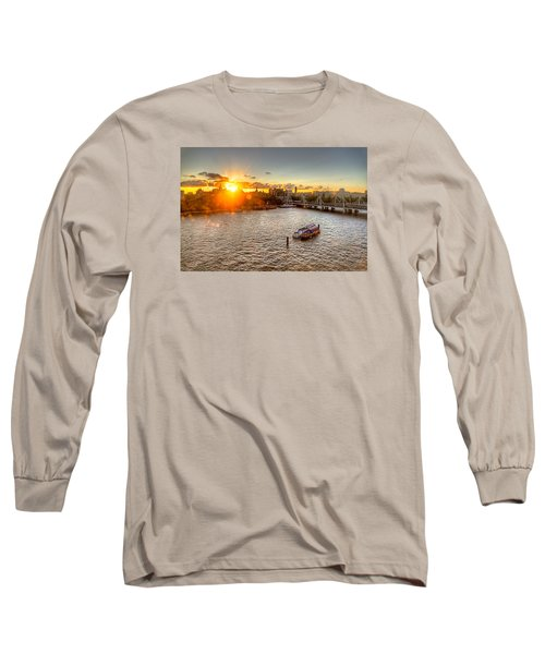 Long Sleeve T-Shirt featuring the photograph Sunset On The Thames by Tim Stanley