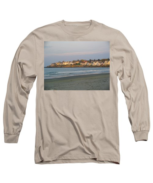 Sunset On York Beach Long Sleeve T-Shirt