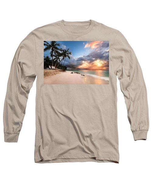 Long Sleeve T-Shirt featuring the photograph Sunset Over Bacardi Island by Mihai Andritoiu