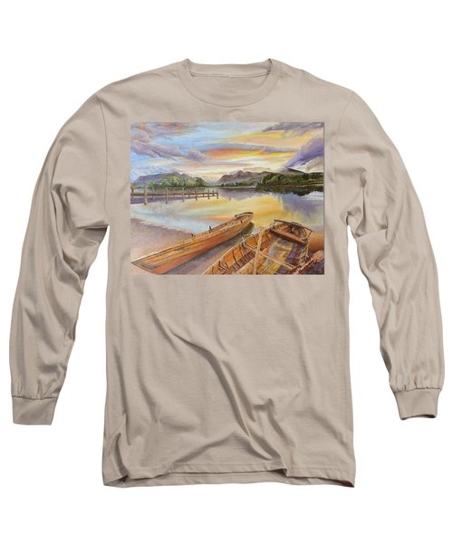 Sunset Over Serenity Lake Long Sleeve T-Shirt