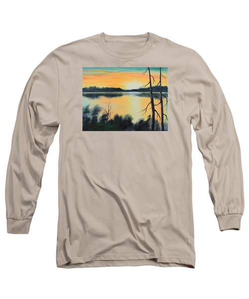 Sunset Long Sleeve T-Shirt by Remegio Onia