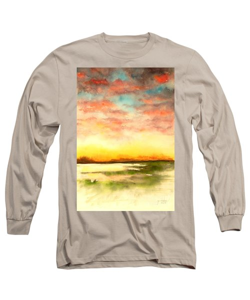 Sunset Long Sleeve T-Shirt by Yoshiko Mishina