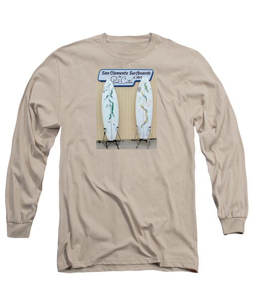 Surfboards In San Clemente Long Sleeve T-Shirt
