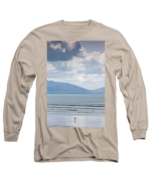 Surfer On The Beach, Inch Strand Long Sleeve T-Shirt