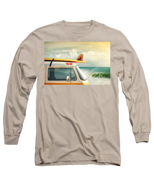 Surfing Way Of Life Long Sleeve T-Shirt by Carlos Caetano
